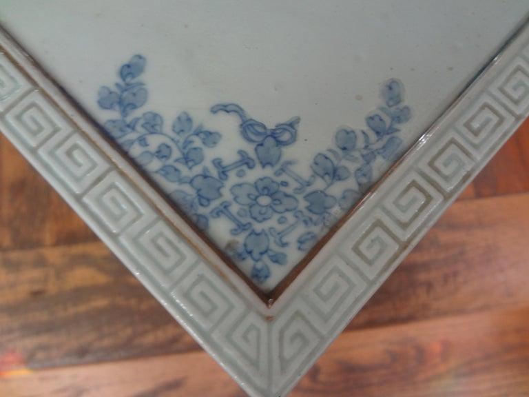 19th Century Japanese Meiji Porcelain Garden Seat or Table For Sale 4