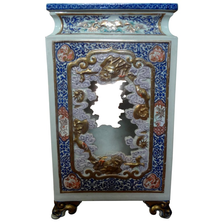 19th Century Japanese Meiji Porcelain Garden Seat or Table For Sale