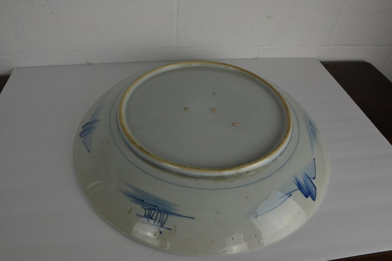 19th Century Japanese Platter or Charger In Good Condition For Sale In Pasadena, CA