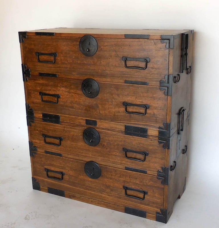 19th Century Japanese Shop Tansu, Chest Of Drawers For