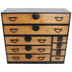 Oversize 19th Century Japanese Tansu Chest