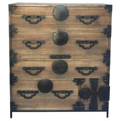 19th Century Japanese Tansu on Iron Base