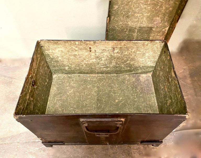 Wrought Iron 19th Century Japanese Trunk For Sale