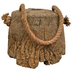 19th Century Japanese Wooden Weight