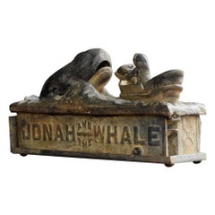 19th Century Jonah and the Whale Mechanical Bank