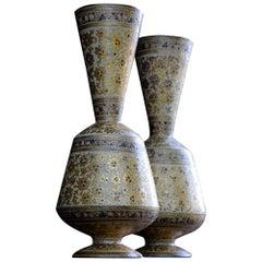 19th Century Kashmir Papier Mache Vases