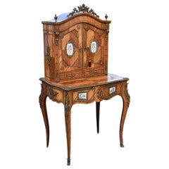 19th Century Kingwood and Walnut Bonheur Du Jour