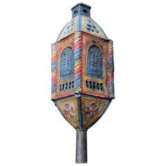 19th Century Knight Templar Pierced Lantern
