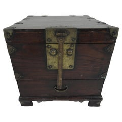 19th Century Korean Wood Wedding Box