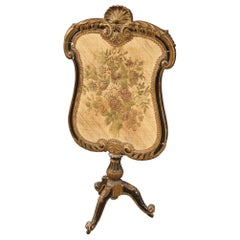 19th Century Lacquered and Gilt Wood and Fabric French Fender, 1870