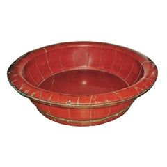 19th Century Lacquered Wood Basin or Bowl