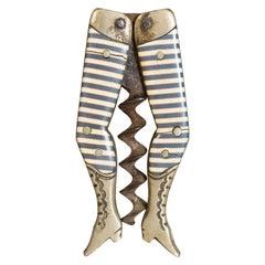 """19th Century """"Lady Legs"""" Corkscrew"""