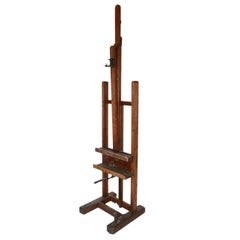 19th Century Large Adjustable Artist's Easel