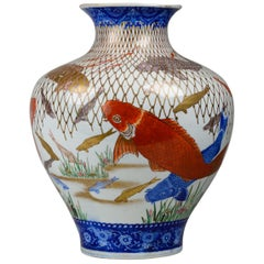 19th Century Large and Spectacular Multicolored Imari Vase