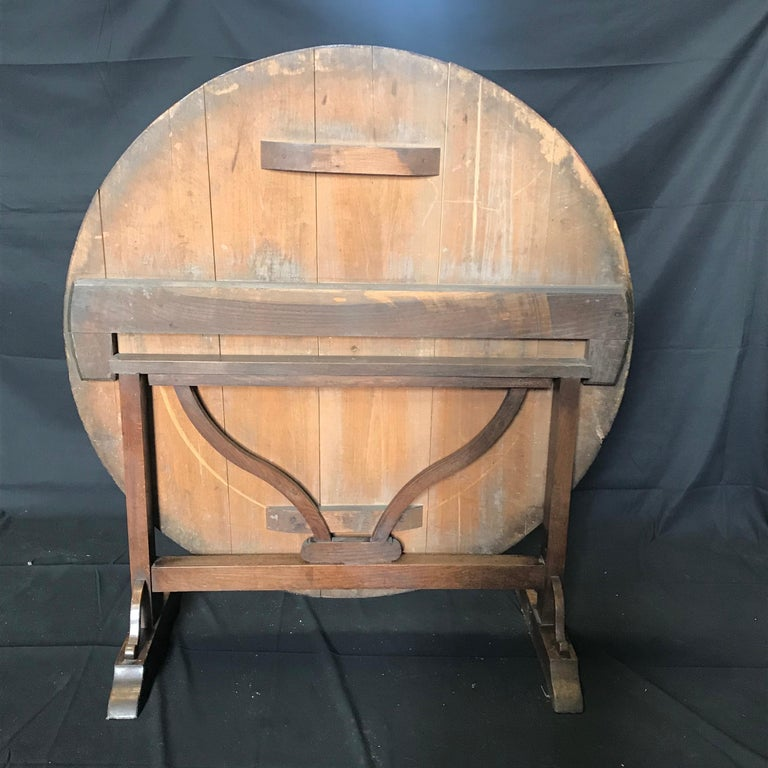Rustic 19th Century Large Antique French Wine Tasting Table For Sale