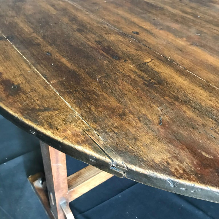 Pine 19th Century Large Antique French Wine Tasting Table For Sale