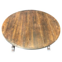 19th Century Large Antique French Wine Tasting Table