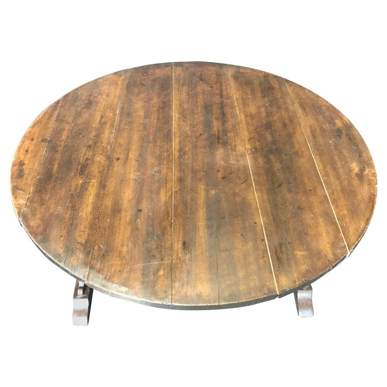 19th Century Large Antique French Wine Tasting Table For Sale