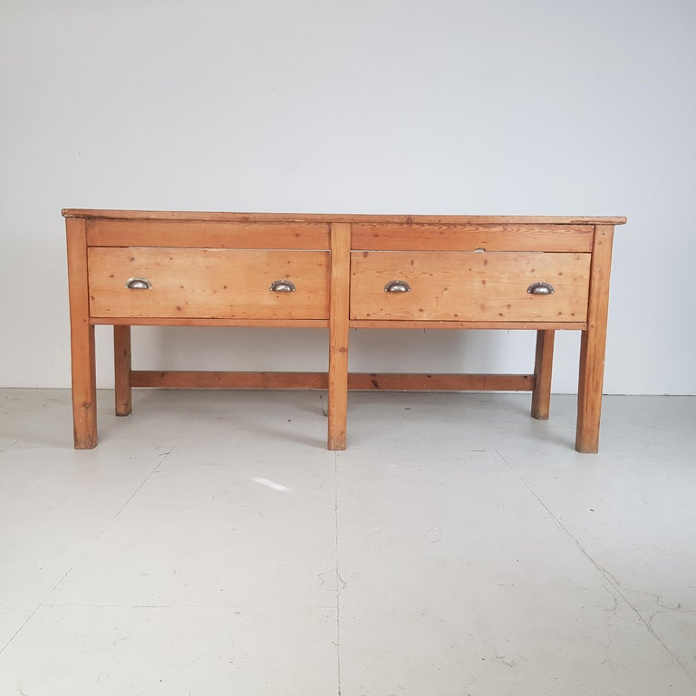 Italian 19th Century Large Bakers Table For Sale