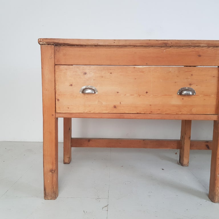 Late 19th Century 19th Century Large Bakers Table For Sale