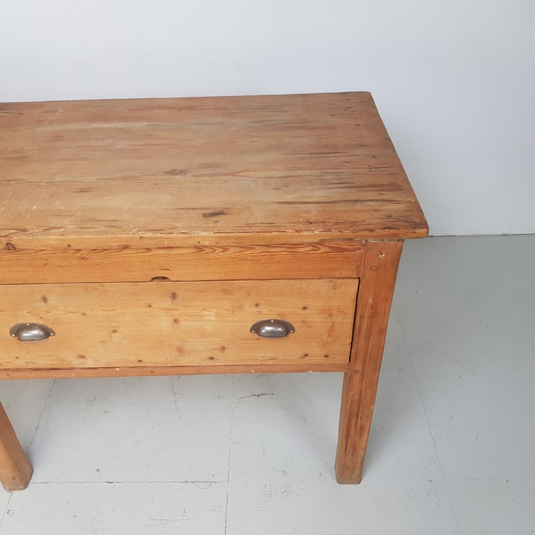 Pine 19th Century Large Bakers Table For Sale