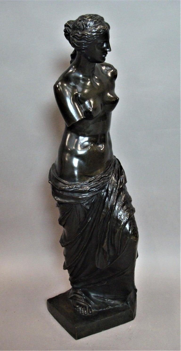 19th Century Large Bronze Grand Tour Sculpture of Venus de Milo For Sale 6