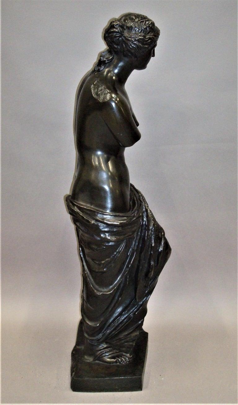 19th Century Large Bronze Grand Tour Sculpture of Venus de Milo For Sale 7