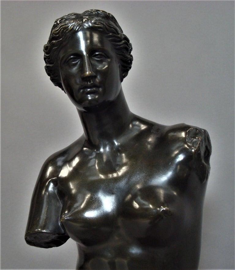 19th Century Large Bronze Grand Tour Sculpture of Venus de Milo For Sale 9