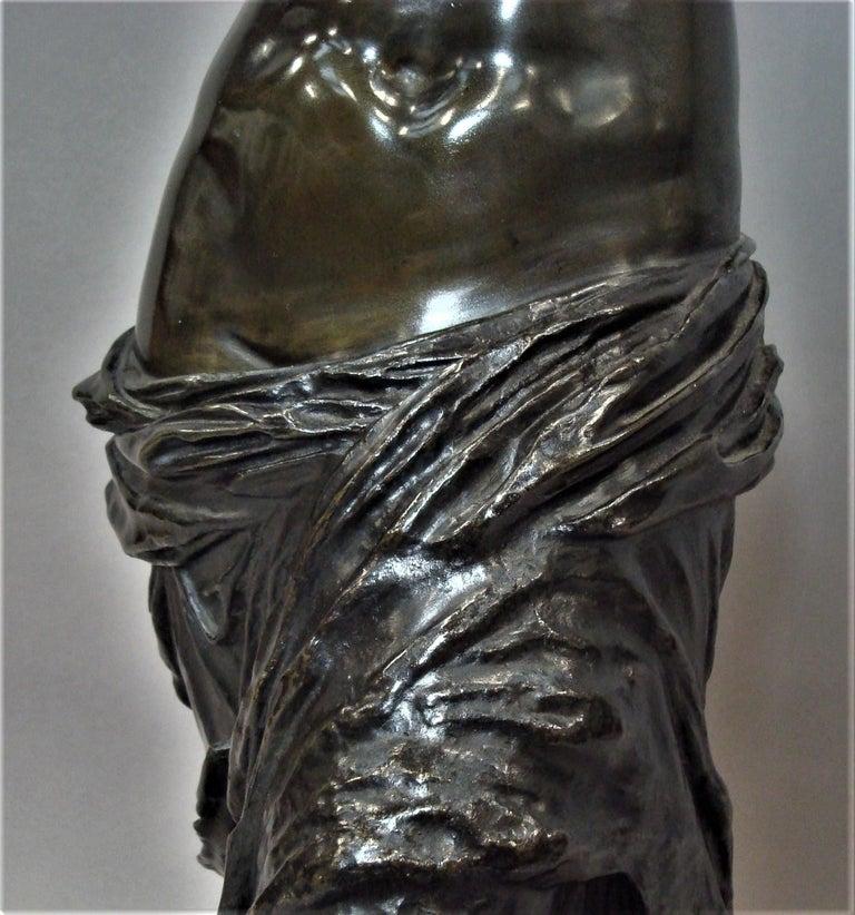19th Century Large Bronze Grand Tour Sculpture of Venus de Milo For Sale 10