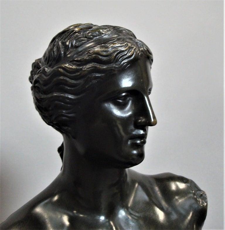 19th Century Large Bronze Grand Tour Sculpture of Venus de Milo For Sale 11