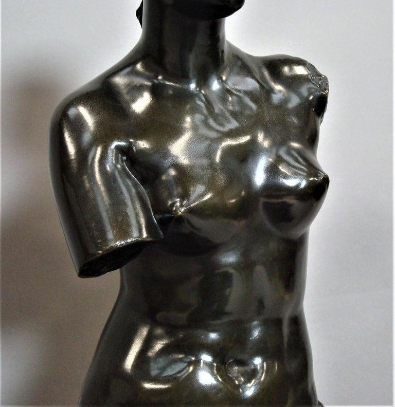19th Century Large Bronze Grand Tour Sculpture of Venus de Milo For Sale 12