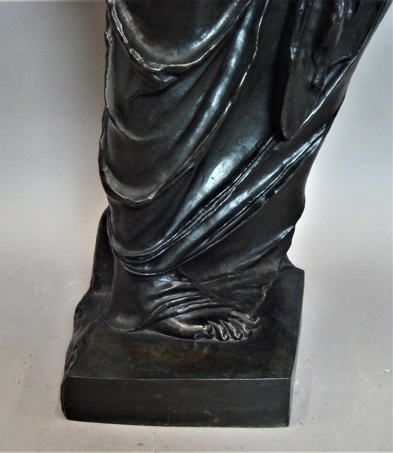 19th Century Large Bronze Grand Tour Sculpture of Venus de Milo For Sale 14