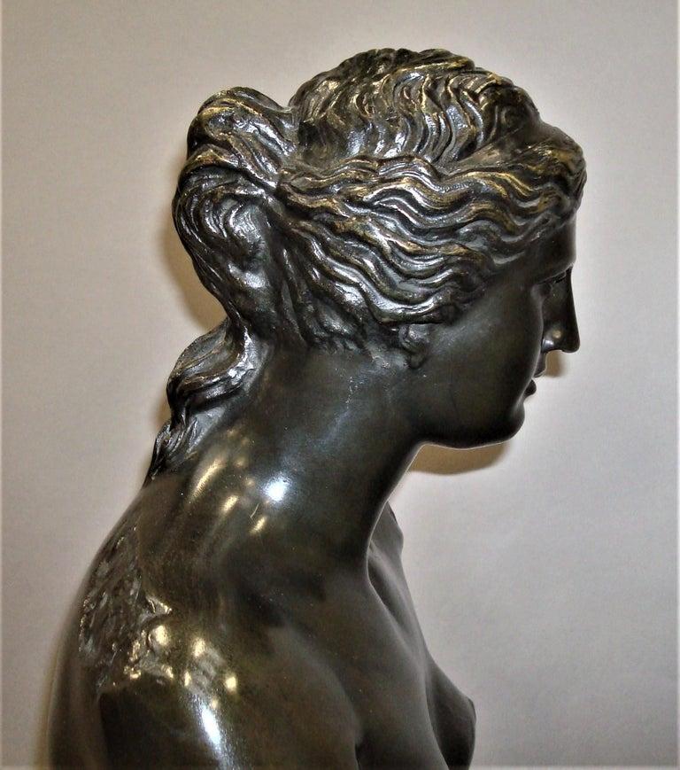 19th Century Large Bronze Grand Tour Sculpture of Venus de Milo For Sale 16