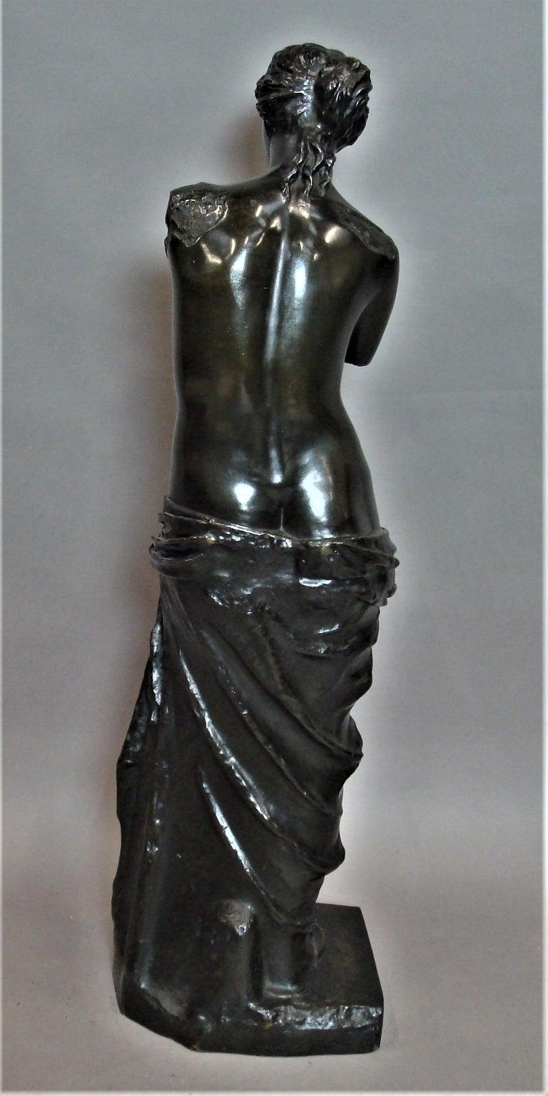 19th Century Large Bronze Grand Tour Sculpture of Venus de Milo For Sale 5