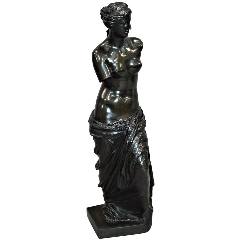 19th Century Large Bronze Grand Tour Sculpture of Venus de Milo For Sale