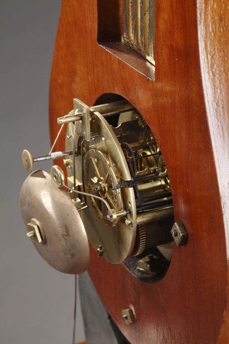 19th Century Large Burr Elm and Ormolu Lyre Clock 6