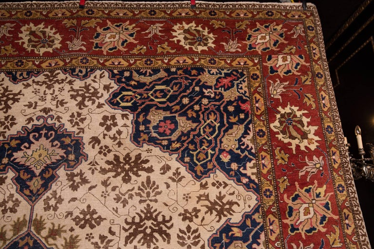Hand-Knotted 19th Century Large Carpet Tabriz Rug For Sale