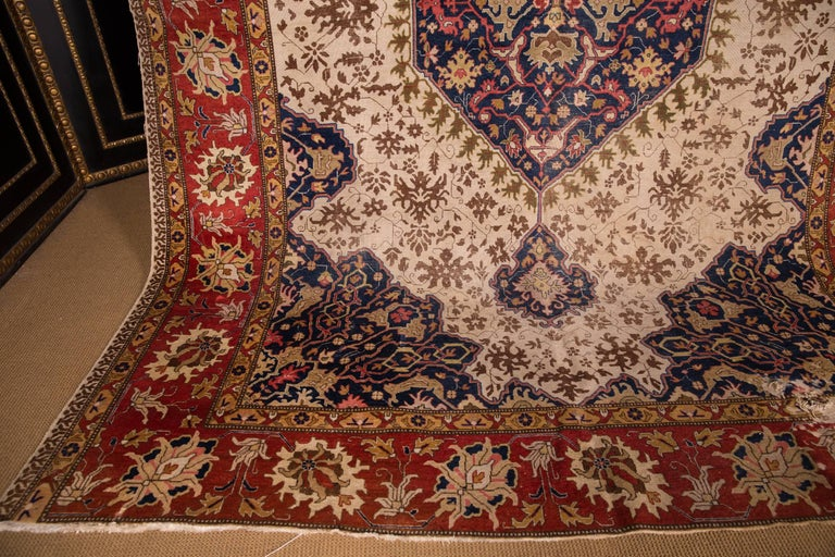 19th Century Large Carpet Tabriz Rug In Good Condition For Sale In Berlin, DE