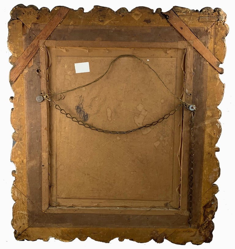19th Century Large Carved Gilt Wood Mirror  For Sale 2