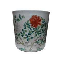 19th Century Large Famille Rose Chinese Porcelain Jardinière