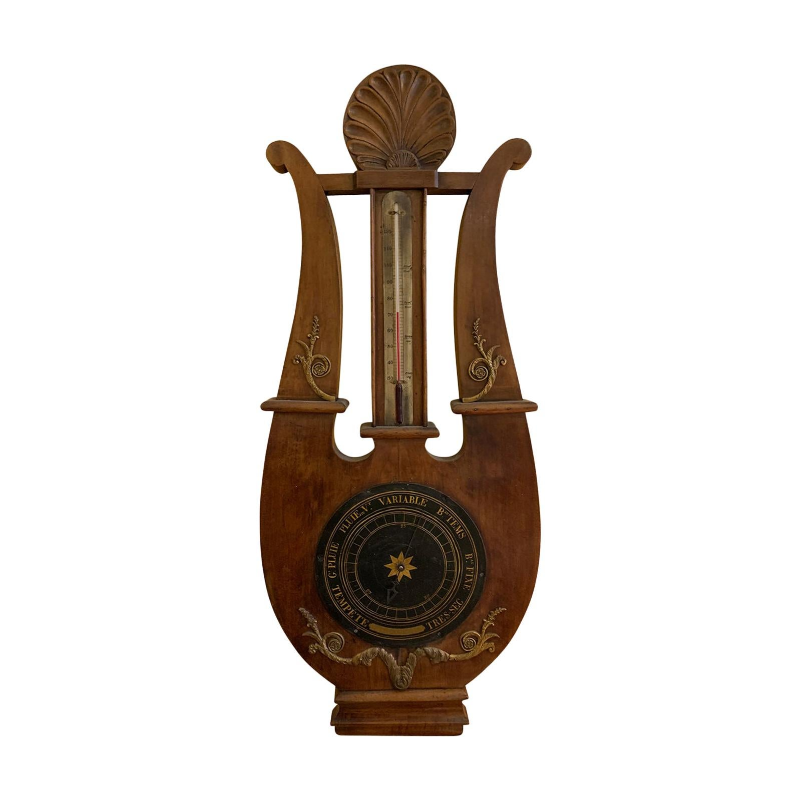 19th Century Large French Empire Barometer