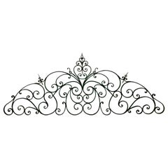 19th Century Large French Iron Cate Pediment