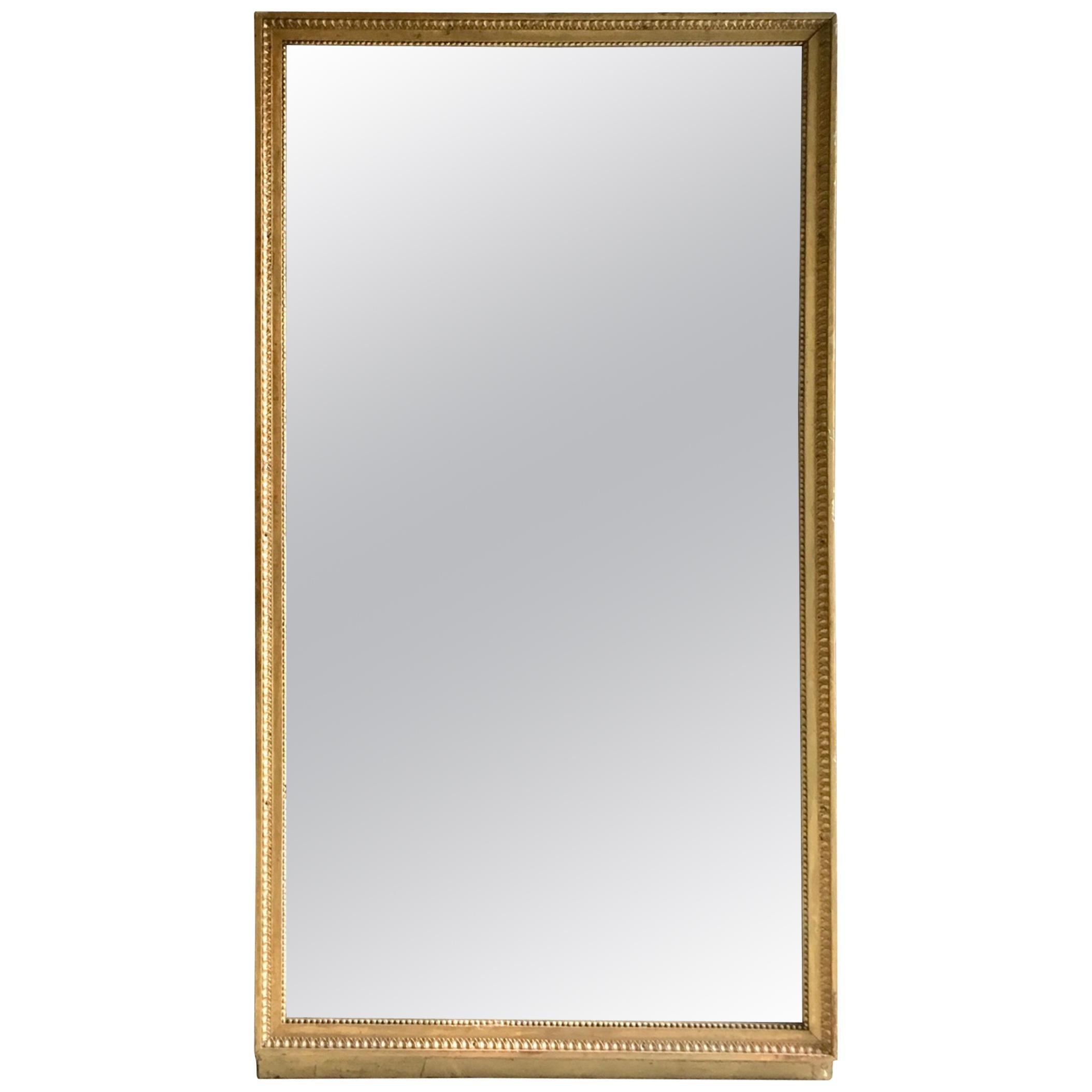 19th Century Large French Louis XVI Giltwood Mirror