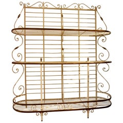 19th Century Large French Metal and Brass Baker's Rack