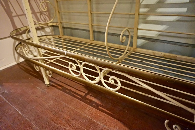 19th Century Large French Metal and Brass Baker's Rack For Sale 7