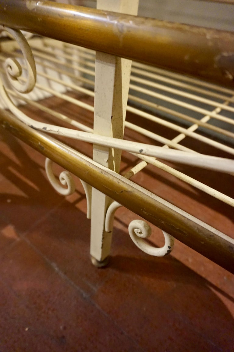 19th Century Large French Metal and Brass Baker's Rack For Sale 8