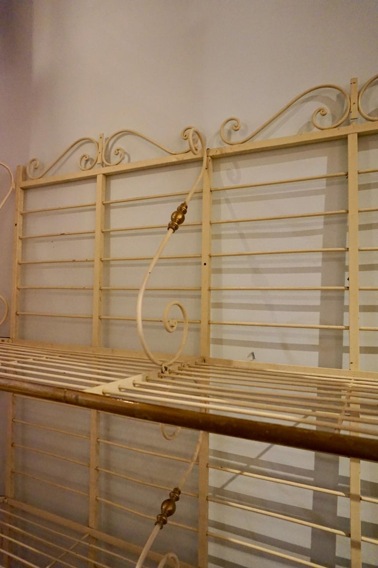 Late 19th Century 19th Century Large French Metal and Brass Baker's Rack For Sale