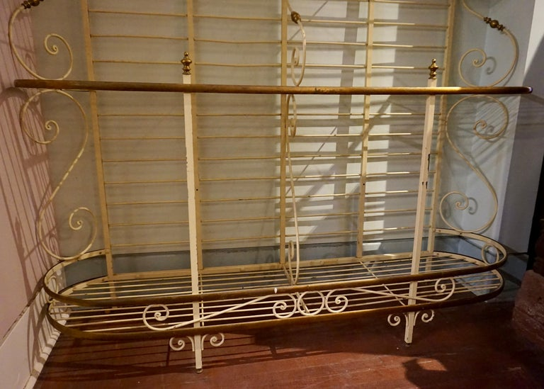 19th Century Large French Metal and Brass Baker's Rack For Sale 1