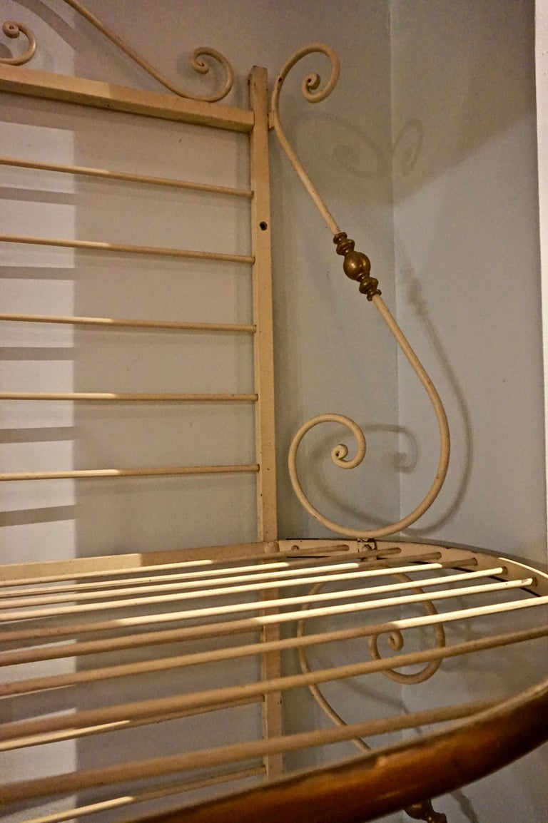 19th Century Large French Metal and Brass Baker's Rack For Sale 3