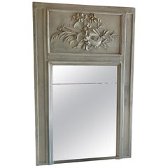 19th Century Large French Trumeau Mirror